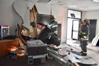 Man crashes into northwest Indianapolis bank