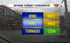 Tuesday thunderstorms, possibly severe