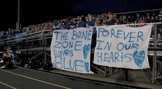 Zionsville teens honored at football game