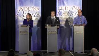 Ind. US Senate candidates face off in 1st debate