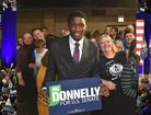 Pacers' Oladipo endorses Donnelly at rally