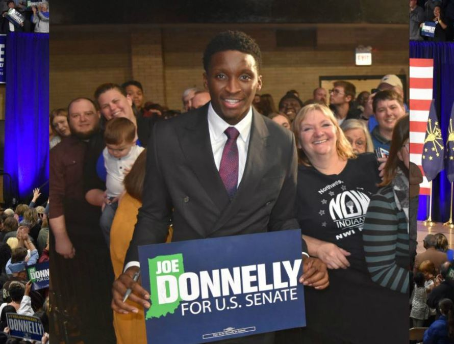 Pacers' Victor Oladipo endorses Joe Donnelly for U.S. Senate at northern Indiana...