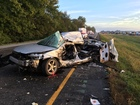 Man killed in Johnson Co. crash involving semi