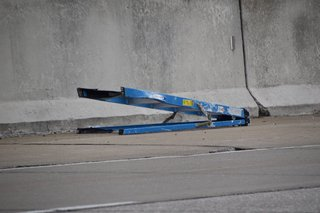 Ladder on I-65 causes crash, slowdown