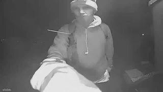 Suspicious man caught on cam at Irvington home