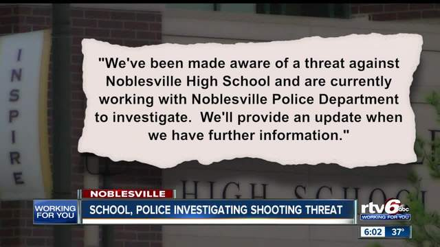 Police investigating threat at Noblesville High School- student suspect detained