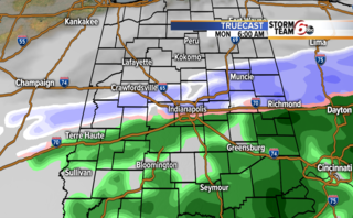 Mix of rain & snow possible into Monday morning