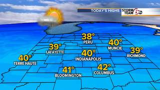 ALERT: Rain/snow in morning, cloudy afternoon