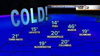 Temps in the teens today